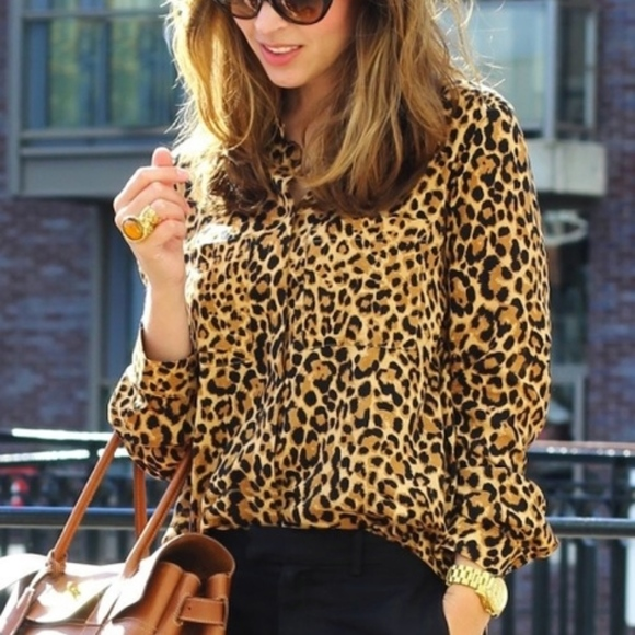 15c0c423221b Lord & Taylor Tops   Lord Taylor Leopard Button Down   Poshmark